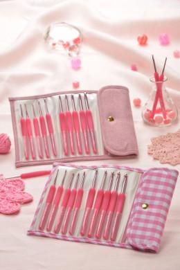 PINK ETIMO candy Cushion grip crochet hook set